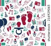 birthay seamless pattern | Shutterstock .eps vector #216929065