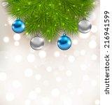 illustration christmas... | Shutterstock .eps vector #216941599