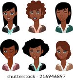 woman avatar  black | Shutterstock .eps vector #216946897