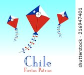illustration of chile flag in... | Shutterstock .eps vector #216947401