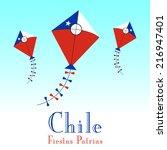 illustration of chile flag in... | Shutterstock .eps vector #216947401