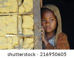 madagascar shy and poor african ... | Shutterstock . vector #216950605