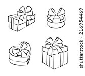gift boxes icons or symbols ...