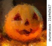abstract geometric halloween... | Shutterstock .eps vector #216965617