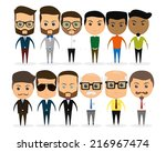 a set of different men on a... | Shutterstock .eps vector #216967474