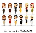 a set of different women on a... | Shutterstock .eps vector #216967477