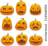 halloween pumpkin head icon...