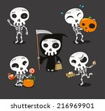 Halloween Skeleton Vector...