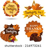 thanksgiving day illustration... | Shutterstock .eps vector #216973261