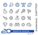 sports icons    line series | Shutterstock .eps vector #216977929