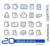 book icons    line series | Shutterstock .eps vector #216977971