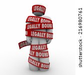 Постер, плакат: Legally Bound red tape