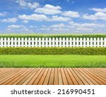 Lawn And Wooden Floor With...