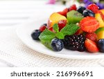 Delicious Fruits Salad In Plate ...