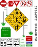 vector traffic signs with... | Shutterstock .eps vector #21699862