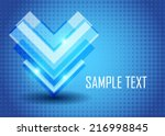 blue abstract background | Shutterstock .eps vector #216998845