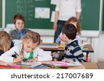 Group Of Young Pupils In...