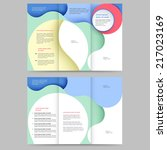 abstract colored brochure... | Shutterstock .eps vector #217023169
