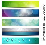 banners  headers  vector... | Shutterstock .eps vector #217030009