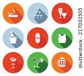 bar flat icons set | Shutterstock .eps vector #217032505