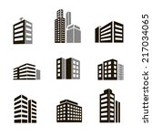 buildings icons ... | Shutterstock . vector #217034065