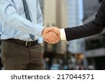 close up image of a firm... | Shutterstock . vector #217044571