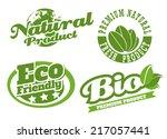 eco bio natural logos | Shutterstock .eps vector #217057441