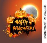 happy halloween poster. vector... | Shutterstock .eps vector #217068331
