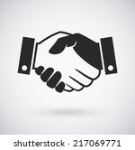 handshake icon | Shutterstock .eps vector #217069771