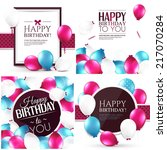vector illustrations. set of... | Shutterstock .eps vector #217070284