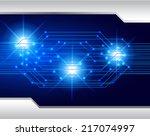 blue light abstract technology...   Shutterstock .eps vector #217074997