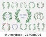 the set of hand drawn vector... | Shutterstock .eps vector #217088701
