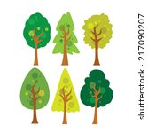 tree set vector | Shutterstock .eps vector #217090207