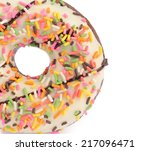 donut isolated on white... | Shutterstock . vector #217096471