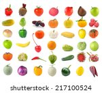 collection of fruits and... | Shutterstock . vector #217100524