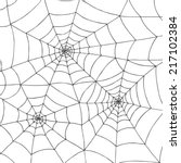 abstract hand drawn spider net    Shutterstock .eps vector #217102384