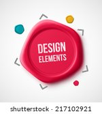 design elements  wax seal  eps... | Shutterstock .eps vector #217102921