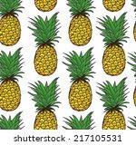 pineapple seamless pattern ... | Shutterstock .eps vector #217105531