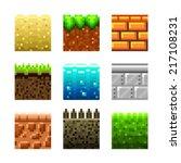 textures for platformers pixel... | Shutterstock .eps vector #217108231