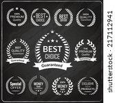 sale premium quality exclusive... | Shutterstock .eps vector #217112941