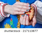 female hands with beautiful... | Shutterstock . vector #217113877