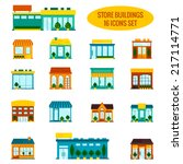 store shop front window... | Shutterstock .eps vector #217114771