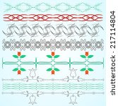 vintage ornaments and dividers  ... | Shutterstock .eps vector #217114804