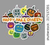 vector stickers.halloween | Shutterstock .eps vector #217117201