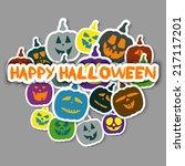 vector stickers.halloween | Shutterstock .eps vector #217117201