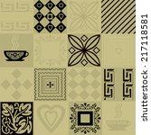 patchwork seamless bright... | Shutterstock . vector #217118581