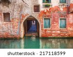 Old Stone House In Venice Retr...