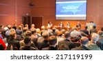 business conference and...   Shutterstock . vector #217119199