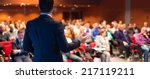 speaker at business conference... | Shutterstock . vector #217119211