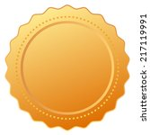 blank gold certificate   Shutterstock .eps vector #217119991